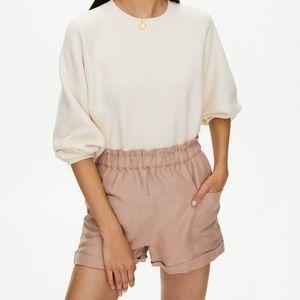 Aritzia Wilfred, 100% silk blush shorts 🎀